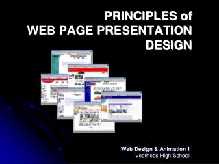 PRINCIPLES of  WEB PAGE PRESENTATION DESIGN