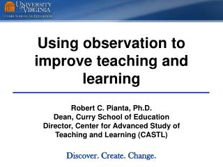 Using observation to improve teaching and learning