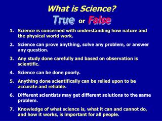 What is Science? or