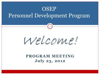 OSEP  Personnel Development Program