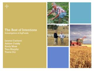 The Best of Intentions Investigation of AgFunds