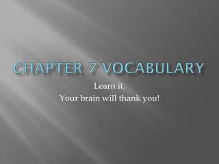 Chapter 7 Vocabulary