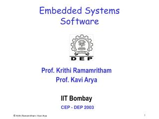 Embedded Systems  Software