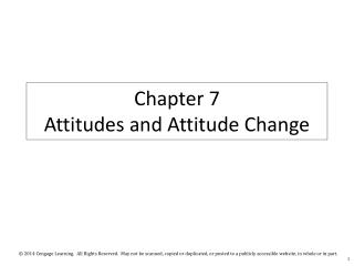 Chapter  7  Attitudes and Attitude Change