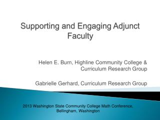 Supporting and Engaging Adjunct Faculty