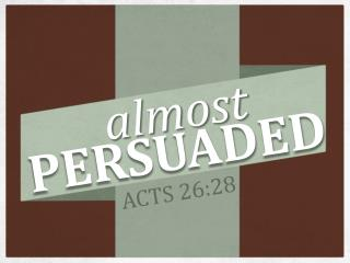 Paul's Defense Before Agrippa: ( 2-3 )  Paul states his purpose. He recounts: