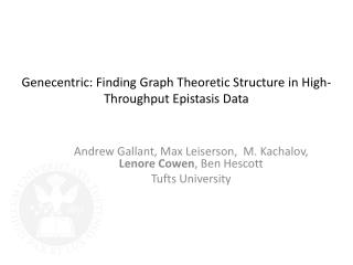 Genecentric: Finding Graph Theoretic Structure in High-Throughput Epistasis Data