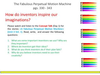 The Fabulous Perpetual Motion  Machine pgs .  330 -  343