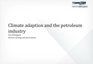 Climate adaption and the petroleum industry