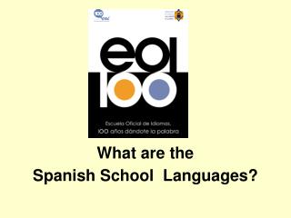 What are the  Spanish School  Languages?