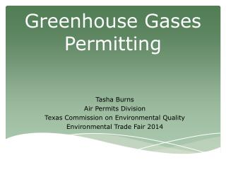 Greenhouse Gases Permitting