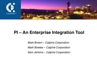 PI – An Enterprise Integration Tool