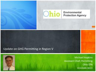 Update on GHG Permitting in Region V