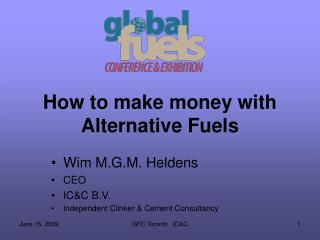 How to make money with Alternative Fuels