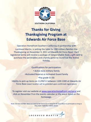 Operation Homefront Southern California, in partnership with