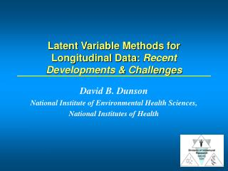 Latent Variable Methods for Longitudinal Data:  Recent  Developments & Challenges