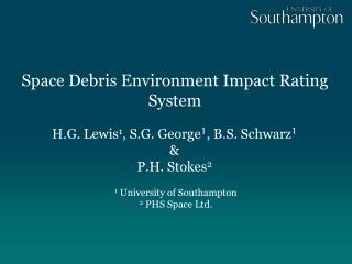 Space Debris Environment Impact Rating System