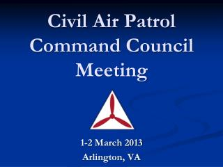 Civil Air Patrol Command Council Meeting