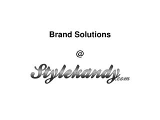Brand Solutions @