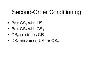 Second-Order Conditioning