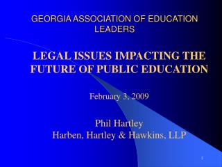 GEORGIA ASSOCIATION OF EDUCATION LEADERS