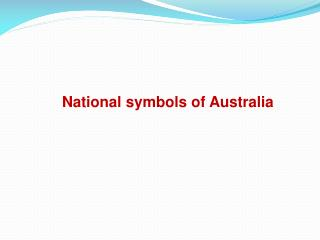 National symbols of Australia