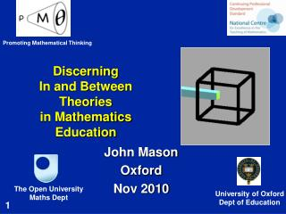 Discerning  In and Between Theories  in Mathematics Education