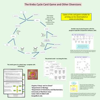 The Krebs Cycle Card Game and Other Diversions