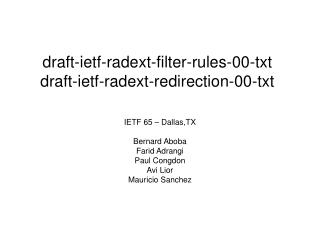 draft-ietf-radext-filter-rules-00-txt