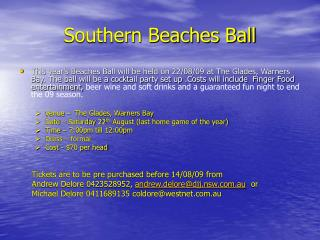 Southern Beaches Ball
