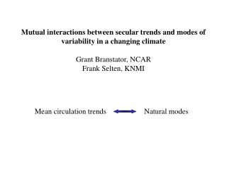 Mean circulation trends                    Natural modes