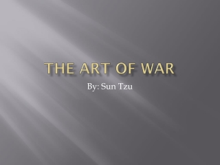 Knowing  The Art of War 2000