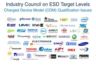 Industry Council on ESD Target Levels Charged Device Model (CDM) Qualification Issues