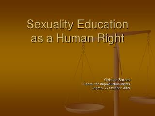 Sexuality Education as a Human Right