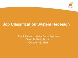 Job Classification System Redesign