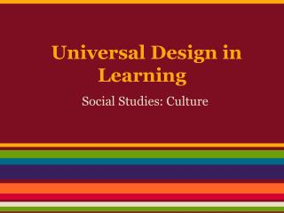 Universal Design in Learning