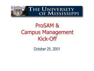 ProSAM & Campus Management Kick-Off