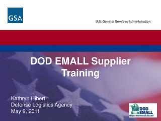 DOD EMALL Supplier Training