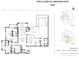 TYPE F1| LEVEL 23 | PENTHOUSE SUITE