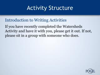 Activity Structure
