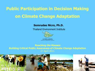 Public Participation in Decision Making on Climate Change Adaptation