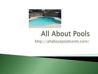 Pool chemical service Simi Valley, CA,