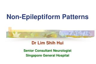 Non-Epileptiform Patterns