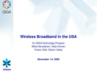 Wireless Broadband in the USA