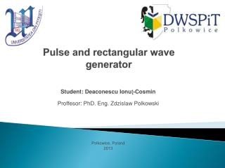 Pulse and rectangular wave  generator