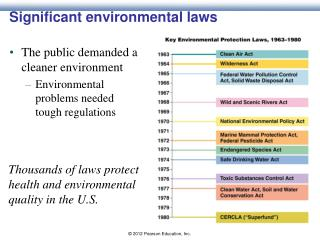 Significant environmental laws
