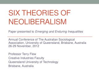 Six Theories of Neoliberalism