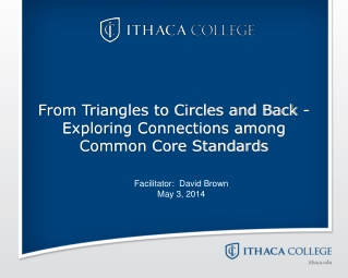 From Triangles to Circles and Back - Exploring Connections among Common Core Standards