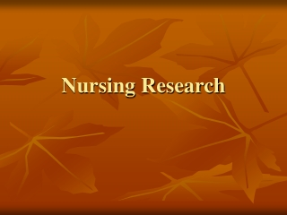 The Research Critique    Ethics in Nursing Research