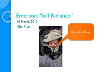 "Emerson: ""Self Reliance"""